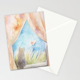 The Lookout Cat Stationery Cards