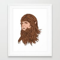 teen wolf Framed Art Prints featuring Teen Wolf by Joseph Botcherby