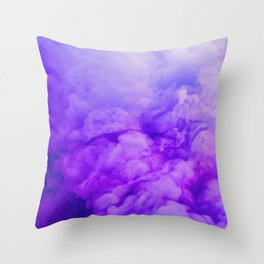 Ethereal Purple Throw Pillow