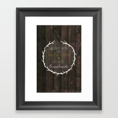 i belong to you, you belong to me- the lumineers Framed Art Print