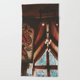 Timber Cabin in Oregon Beach Towel