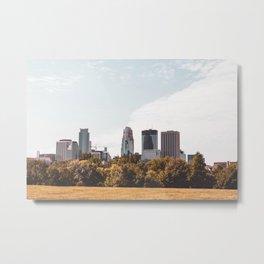 Minneapolis Minnesota Skyline Fall Colors Metal Print