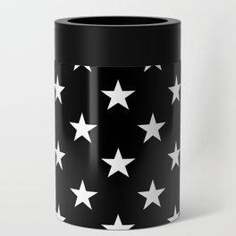 Stars (White/Black) Can Cooler