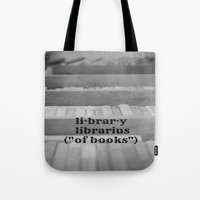 library Tote Bags featuring Library by KimberosePhotography