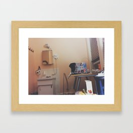 Simple Hotel Room Picture Framed Art Print