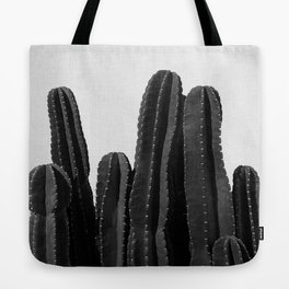 Cactus Black & White Tote Bag