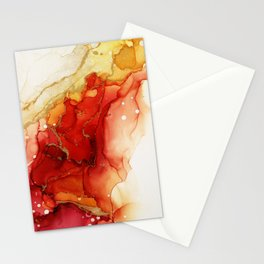 Golden Flames Abstract Ink - Part 2 Stationery Cards