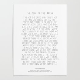 The Man In The Arena by Theodore Roosevelt 2 #minimalism Poster