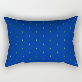 Succ It - Cute But Rude Cactus Tiled on Dark Blue Rectangular Pillow
