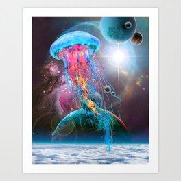 Super Space Jellyfish Art Print