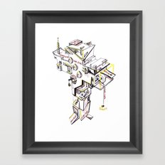 Cross building (white background) Framed Art Print
