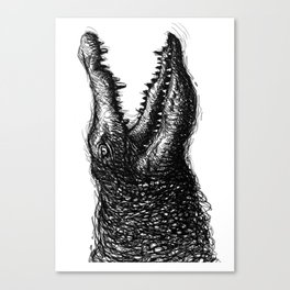 Crocodile in hand drawn style. Canvas Print
