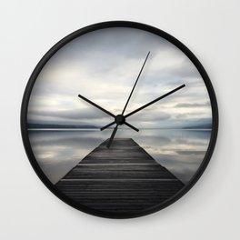 Lake McDonald Dock Wall Clock