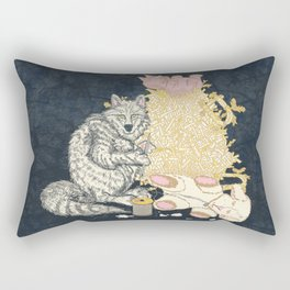 Big Bad Wolf Only Needed a Needle Rectangular Pillow
