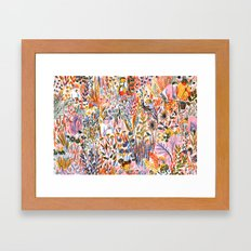 Bug-Catching Framed Art Print