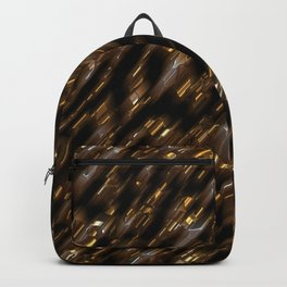 Brown gold diagonal Backpack