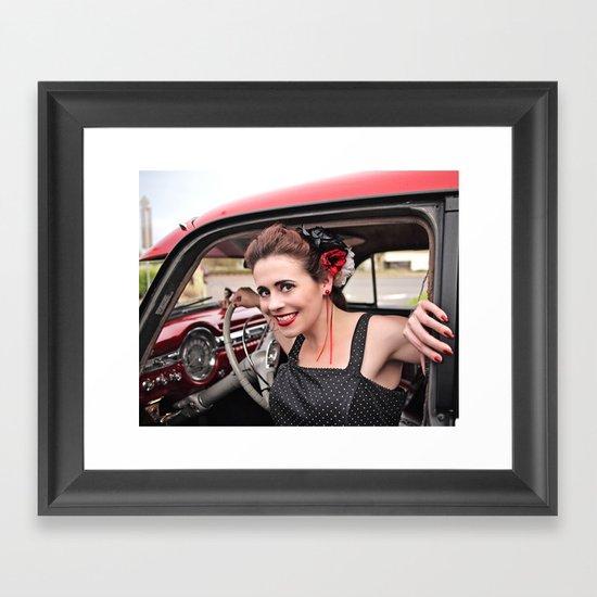 Retro smile Framed Art Print