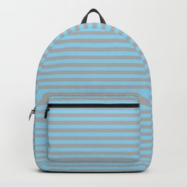 Ice Blue and Gray Vintage Thin Stripes Backpack