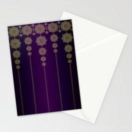 Violet & Gold Mandala Medallions Stationery Cards