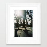 skateboard Framed Art Prints featuring Skateboard by Wunderland Designs