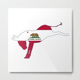 California Republican Donkey Flag Metal Print