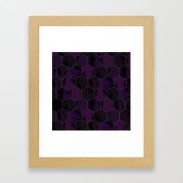 Honey Combs Texture Purple Framed Art Print
