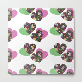 Romantic  pattern # G12 Metal Print