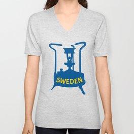 Sweden   Brass Pressure Stove Unisex V-Neck