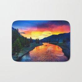Sunset at Yellowstone Bath Mat
