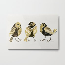 24-Karat Goldfinches Metal Print