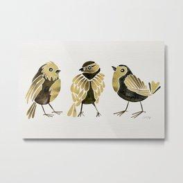 24-Karat Goldfinches Metal Print