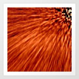 Burnt Orange Pixel Wind Art Print