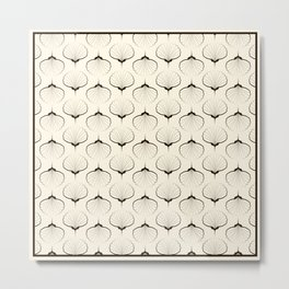 """Art Deco . No. 18 """"Shells."""" Metal Print"""
