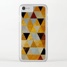 Abstract #382 Copper Foil Clear iPhone Case