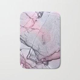 Urban Pink and Grey Marble Pattern Bath Mat