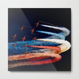 BEAUTIFUL AIRPLANE FORMATION1 Metal Print