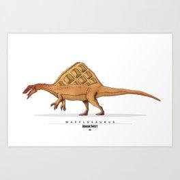 Wafflesaurus Art Print