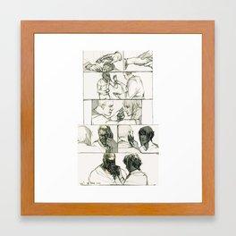 numb hands Framed Art Print