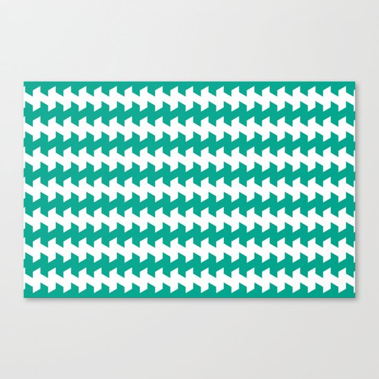 jaggered and staggered in emerald Canvas Print