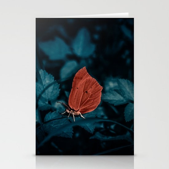 Red in the dark Stationery Cards