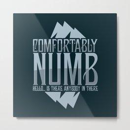 numb black Metal Print