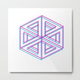 cuboides, geometría ilusoria Metal Print