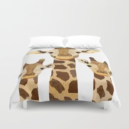 Giraffe Collage Duvet Cover