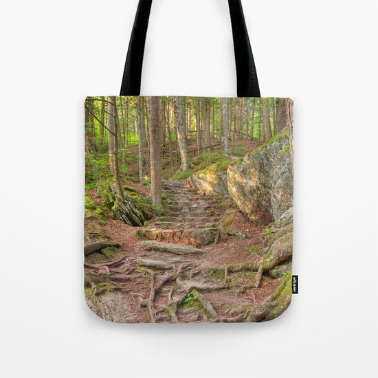 Green Mountain Forest Trail Tote Bag
