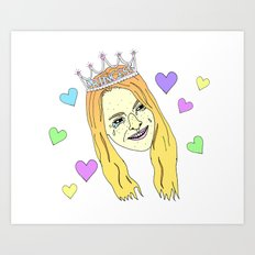Lindsay Lohan Emotions Art Print