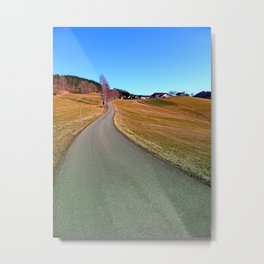 Country road through rural scenery | landscape photography Metal Print