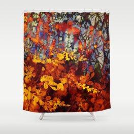 pluie d'automne/fall's rain Shower Curtain
