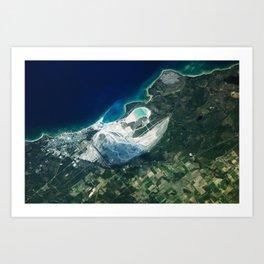 Calcite Quarry Michigan Art Print