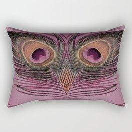 Rose Peacock Feather Face Rectangular Pillow