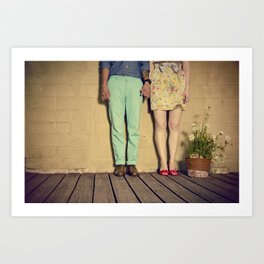 If we hold on tight, we'll hold each other together Art Print